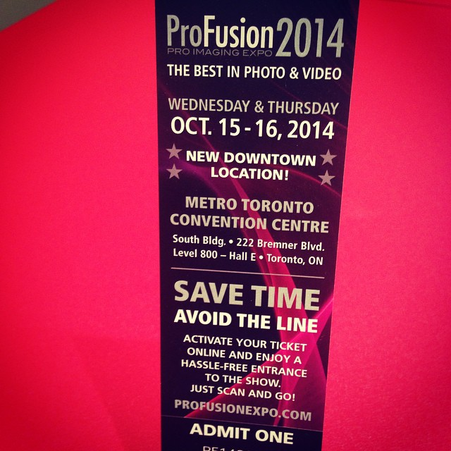 #profusion #2014 #vistek dont forget the show is at the Metro Convention Centre this year:) #sony #canon #fujinon #hurlbut #chapman #akam #rotolight #atomos #blackmagic #convergentdesign and more