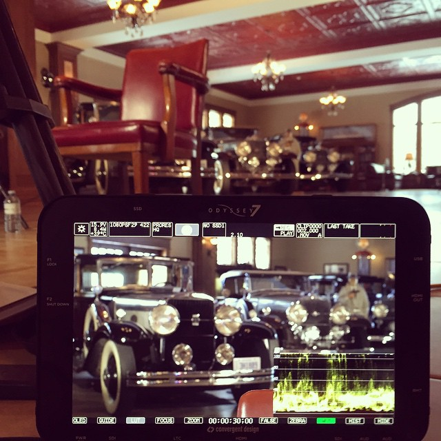 #convergentdesign #odyssey 7 shooting old #cadillac from the 1930's #canon #gopro