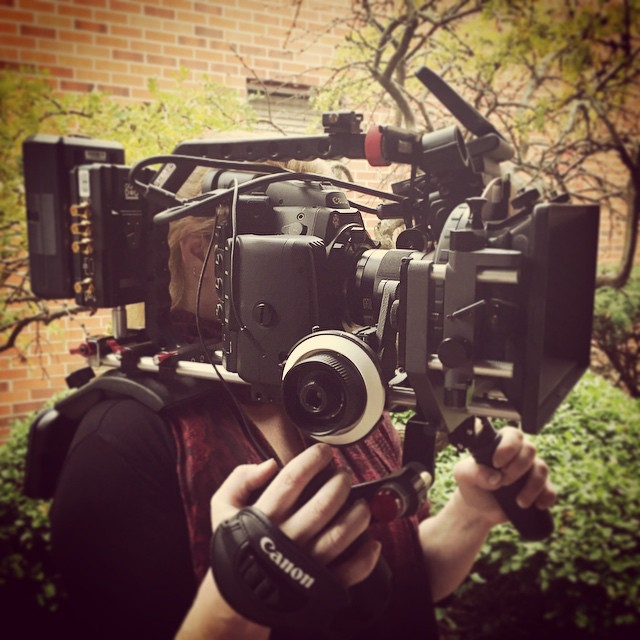 @cinemaeosusers #c500 on #shape #shouldermount rig with #woodencamera  c-box for accessories