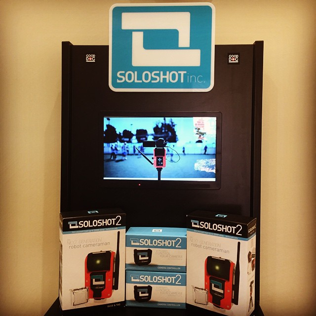 @soloshot #soloshot2 new display and product now in stock for rental and purchase:) #robot #camera #remote